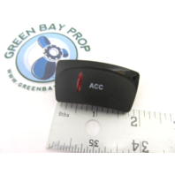 Apex Qwest Pontoon ACC Rocker Switch Cover Only Black with Red Lens