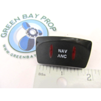 Apex Qwest Pontoon NAV ANC Rocker Switch Cover Only Black with Red Lens