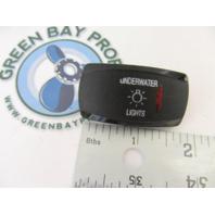 Apex Marine Pontoon Boat Underwater Lights Rocker Switch Cover Only Black w/Red Lens