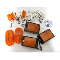 Lot of 12 Boat RV Trailer Replacement Amber Side Marker Lights & Mounts