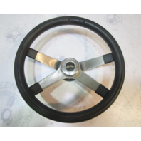 '86 Sea Ray Seville Ride Guide Steering Wheel Square Shaft 4 Spoke Stainless 14""