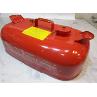 OMC Evinrude Johnson Outboard 3 Gallon Remote Red Metal Gas Tank Fuel Can