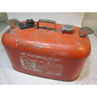 OMC Evinrude Johnson Outboard 6 Gallon Remote Red Metal Gas Tank Fuel Can
