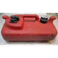 OMC Evinrude Johnson Dura-Tank 3 Gallon Remote Red Plastic Gas Fuel Tank