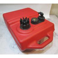 Moeller 6 Gallon Remote Portable Fuel Gas Tank Red Plastic Marine Boat