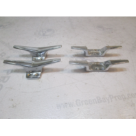 """Vintage 1964 Starcraft Holiday Boat 5.5"""" Cleat Chrome Set of 4"""