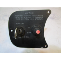 1993 Maxum 1800XR Key Swich Panel with Push To Choke Ignition Switch and Key