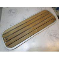 "Bayliner Maxum Boat Floor Deck Hatch Cover Teak Wood Aluminum Frame 37.5"" x 13.5"""