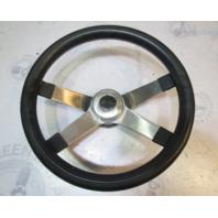 """1988 Sea Ray Seville 13"""" Steering Wheel Stainless 4 Spoke 3/4"""" Tapered Shaft"""