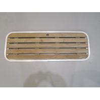 "Floor Deck Ski Hatch Hinged Cover Teak Aluminum Frame 39 1/4"" x 14"""