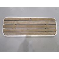 """Vintage Boat Floor Deck Ski Hatch Cover Teak Aluminum Frame 39"""" x 14"""""""