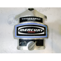 """Mercury Mariner Outboard Blue Decal Chrome Front Cowling Cover 9.5"""" x 9.25"""""""