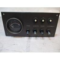 Sylvan Boat Dash Fuel Gauge & Switch Panel