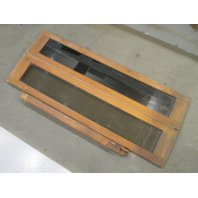 "Teak Cuddy Cabin Window Bi-Fold Stbd Door 50 1/4"" X 20 1/2"" 1990 Rinker V190"