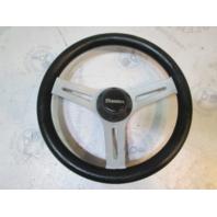 """1989 Forester Phantom 166 Boat Steering Wheel 13"""" Grey Plastic 3/4"""" Shaft"""