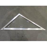 "Marine Boat Triangle Port Left Window Glass Aluminum Frame 40"" x 29"" x 21"""