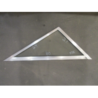 "Marine Boat Triangle Starboard Right Window Glass Aluminum Frame 40"" x 29"" x 21"""