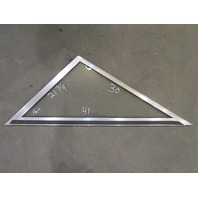 "Marine Boat Triangle Port Left Window Glass Aluminum Frame 41"" x 30"" x 21 3/4"""