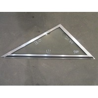 "Marine Boat Triangle STBD Right Window Glass Aluminum Frame 41"" x 30"" x 21 3/4"""