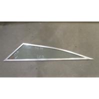 "Boat Triangle Port Left Window Glass Aluminum Frame 68 1/2"" x 56 3/4"" x 19 1/2"""