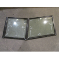 Marine Boat Port Left Side & Center Windshield Front Window 28 x 25 x 21 x 20