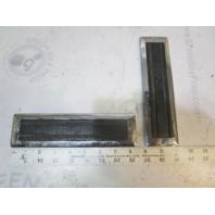 1990 Chaparral 1900SL Gunnel Deck Step Pad Set Chrome Black Rubber 8 1/4 x 2 1/4