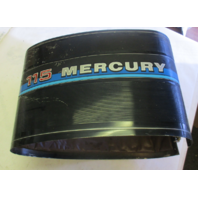 Mercury Mariner Outboard Motor Wrap Around Cowling 115 HP  Blue Stripe