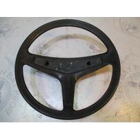 """Vintage Marine Boat Black Plastic Steering Wheel 14"""" Tapered Shaft"""