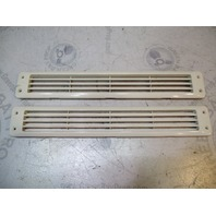 """Attwood 1424-5 Off White Louvered Plastic Vent 17 9/16"""" X  2 3/4"""" Set Of 2"""