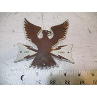 "Vintage Thunderbird Boat Plastic Emblem 5"" H X 4 3/4"" W"