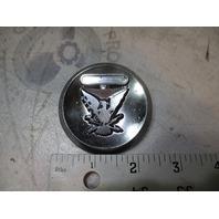 "Vintage Thunderbird Boat Chrome Emblem 2 5/16"""