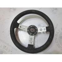 """Bayliner Capri U.S Marine Dino Black Boat Steering Wheel 3 Spokes 13.75"""""""