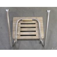"Marine Boat Teak Wood Swim Platform 21 7/8"" x 15 3/4"" with 1 Step Ladder"
