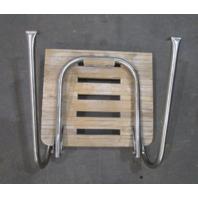 "Marine Boat Teak Wood Swim Platform 17 7/8"" x 15 5/8"" with 1 Step Ladder"