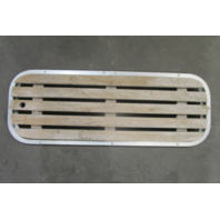 """Vintage Boat Floor Deck Ski Hatch Cover Teak Aluminum Frame 37 1/2"""" x 13 1/2"""""""