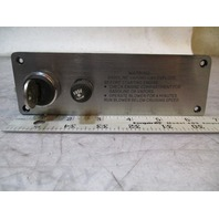 """1986 Sea Sprite 175 Continental Ignition Switch Panel 6 5/8""""W X 2 1/8"""" H"""