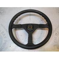 "Teleflex Marine Boat Steering Wheel Black Plastic 13.5"" 3 Spoke 3/4"" Shaft"