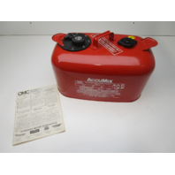 174781 OMC Evinrude Johnson AccuMix 6 Gallon 100:1 Red Metal Gas Tank Fuel Can
