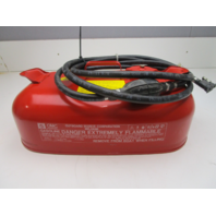 OMC Evinrude Johnson Outboard 3 Gallon Portable Red Metal Gas Tank Fuel Can