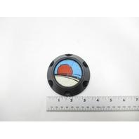 "3 3/8"" Black Steering Wheel Center Cap For Glastron Boats"