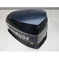 Evinrude Johnson 115 HP V4 Blue Motor Cowl Engine Cover Top Cowling Hood 1990's