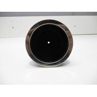 Marine Boat RV Large Drink Cup Holder Black Plastic w/Chrome Lip