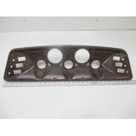 "Marine Boat Dash Board Panel Dark Wood Grain 5 Gauge 6 Switch 28""  X 6"""