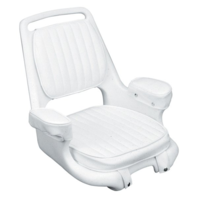 "Moeller ST2080-HD 20"" x 23"" x 16.25"" White Extra-Wide Offshore Seat Padded Arm"