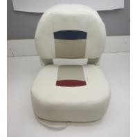 "Veada Marine Boat Folding Pedestal Seat Chair White/Grey 19"" W x 17"" D x 21.5"" H"