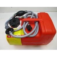 8M0060610 Plastic Mercury Marine Red Remote Portable Gas Tank 3 Gal W/ 10' Hose