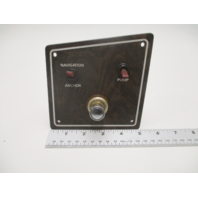 Larson Boat Wood Grain Switch Panel W/ Cigarette Lighter