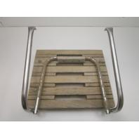 "Marine Boat Teak Wood Swim Platform 18 3/4"" x 15 3/4"" with 1 Step Ladder"