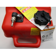 3AC701771 Tohatsu Outboard 25L 6.6 Gallon Red Plastic Portable Gas Fuel Tank