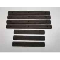 1970's Boat Teak Wood Deck Wall Insert Trim (3) 9 3/4 x 1 3/8 (4) 14 7/8 x 1 3/8